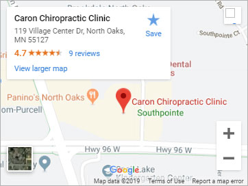 Caron Chiropractic Clinic North Oaks Location Google Map Image
