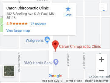 Caron Chiropractic Clinic St. Paul Location Google Map Image